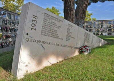 Memorial als caiguts de les Brigades Internacionals - Cementiri de Caputxins