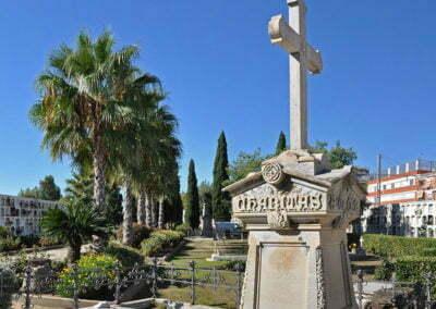 Panorama del cementiri de Calella