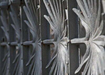 Detall de tanca de ferro
