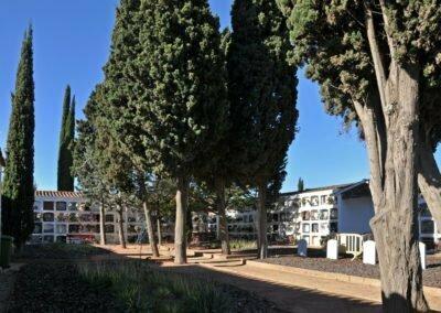 Vista de la part oest del cementiri vell