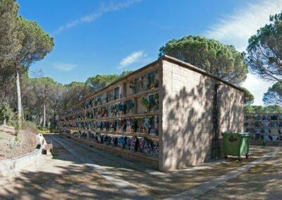 Panorama lateral del cementiri