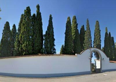 Panorama exterior del cementiri