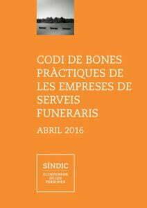 Portada del Codi de Bones Pràctiques de les Empreses de Serveis Funeraris de Catalunya
