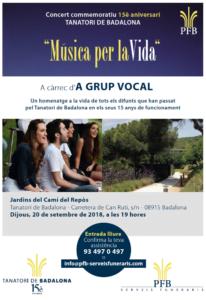 El Tanatori de Badalona organitza el concert commemoratiu 'Música per la vida'