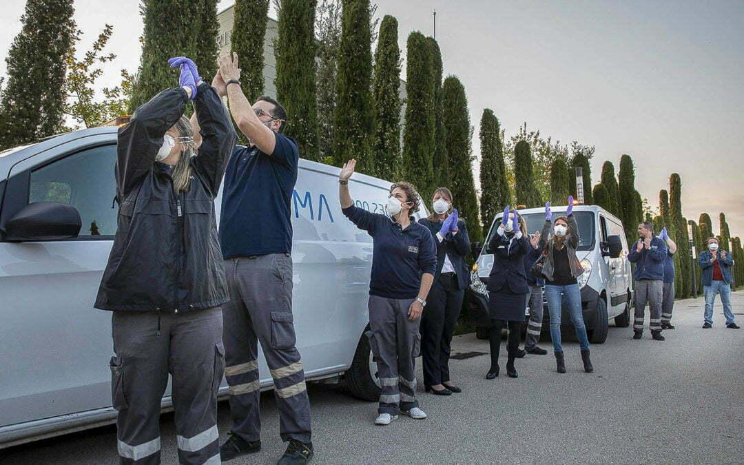 Àltima rep a Vilafranca el reconeixement dels cossos de seguretat per la seva tasca durant el covid-19