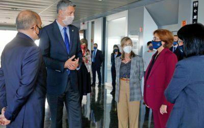 El Tanatori de Badalona rep la visita de l'alcalde de la ciutat en reconeixement a la tasca dels professionals funeraris durant la pandèmia